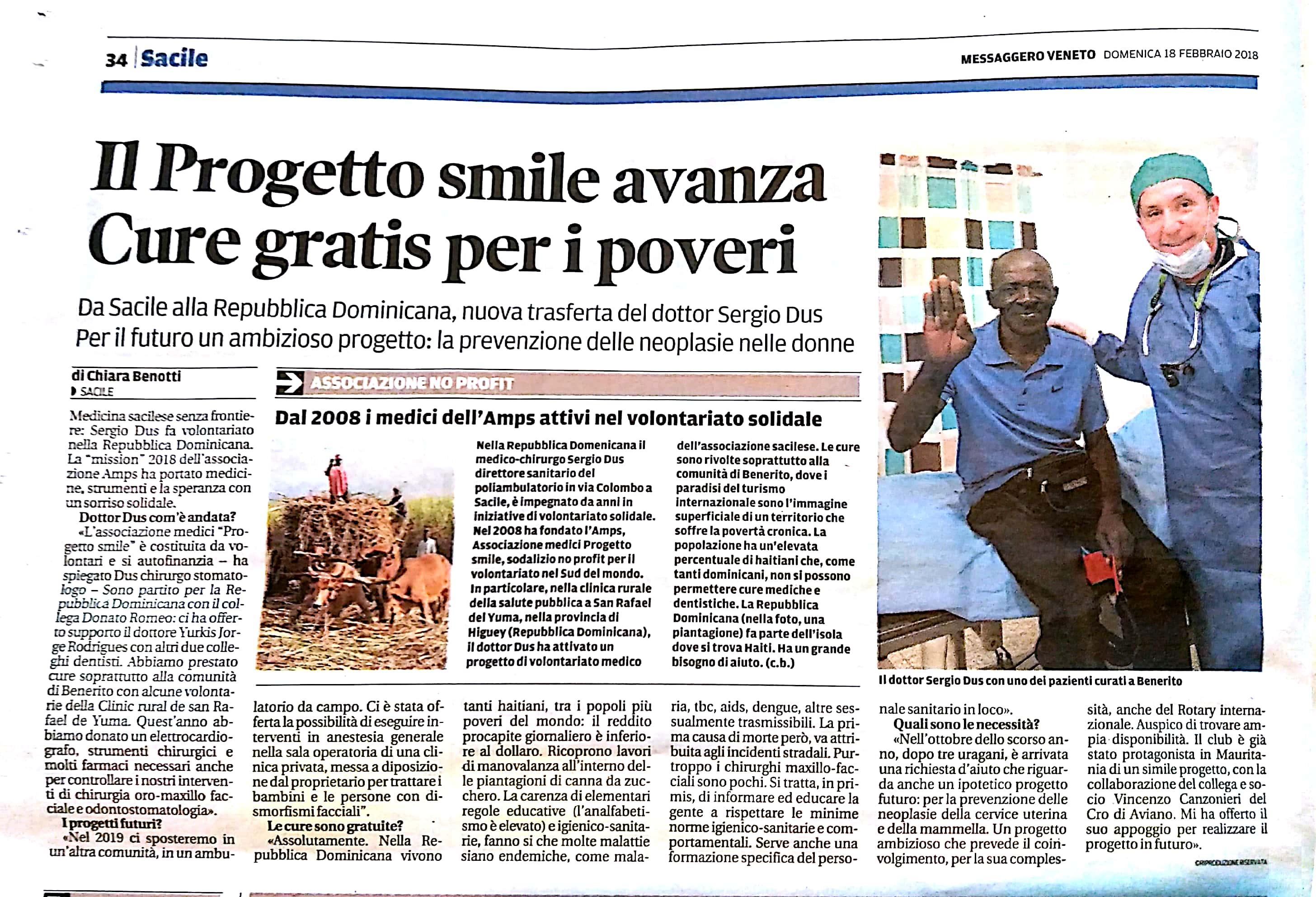 Messaggero Veneto 18.02.2018