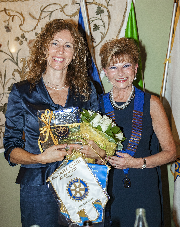Erika Spillkiere con ministro Stefani