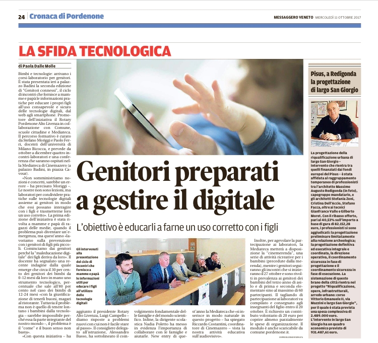 Messaggero Veneto 11 ottobre 2017