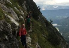 sentiero attrezzato per il bivacco Nogara